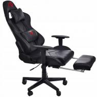 Кресло геймерское с подножкой для ног Aragon Черный