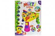Ігровий набір для ліплення Danko Toys Multi Table 5в1 52х39х11см Жовтий/Зелений/Рожевий (MTB-01-01U)