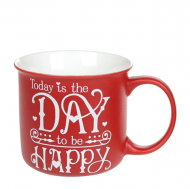 Чашка фарфоровая Flora Home and Love 0,4 л Красный 32017