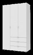 Шкаф для одежды Гелар 1162х495х2034 мм корпус фасад дсп Белый (10002)