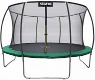 Батут Atleto 374 см с внутренней сеткой Зеленый (21000703)