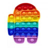 Сенсорная силиконовая игрушка пупырка антистресс Pop It фиджет Дудл разноцветный
