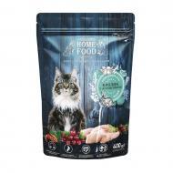 Корм сухий HOME FOOD Кролик та журавлина для дорослих кастрованих/стерилізованих котів 400 г
