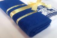 Подарунковий набір рушників Ideal 50х90см синій, білий