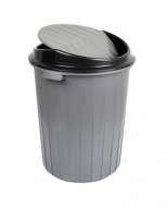 Бак для мусора с вращающейся крышкой Irak Plastik 50л серый TP 2232