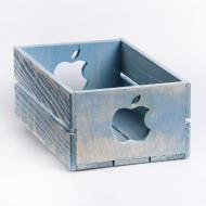 Дерев`яний ящик Майстерня містера Томаса Яблучко 15х17х9,5 см Блакитний