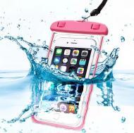 Чохол Waterproof водонепроникний для фото і відео під водою універсальний Рожевий  (10232391)