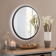 Зеркало настенное с LED подсветкой Art-Com 600 мм Черный (ZL3)