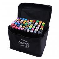 Набор скетч маркеров Touch 60 цветов двухсторонние для рисования в сумке