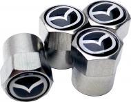 Ковпачки на ніпель СlassyCap Mazda 4 шт. Silver (10557)