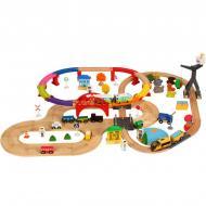 Іграшкова залізниця з дерева Iekool-playtive 110 деталей 103x83