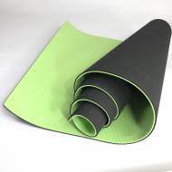 Йогамат TPE Profi MS 0613-1 BLG килимок для фітнесу Чорно-салатовий
