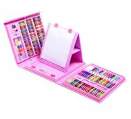 Набор для рисования и творчества с мольбертом Art Set 208 шт. Розовый (A805)