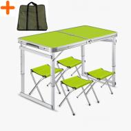 Набір меблів для пікніка Easy Camping стіл посилений розкладний і 4 стільці з чохлом Зелений