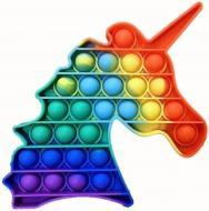 Игрушка-антистресс Pop It Fidget Единорог (5-Pop It)