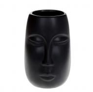 Ваза керамическая Flora Лицо 17 см Черный (32360)