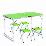 Набор мебели для пикника Fold Table FT-2107 стол раскладной и 4 стула Зеленый
