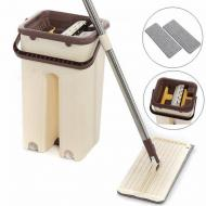 Швабра-лентяйка Supretto Scratch Cleaning Mop с ведром и автоматическим отжимом
