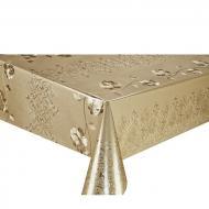Клеенка ПВХ Stenson двусторонняя чеканная 1,37х20 м Светлое золото МА-2211