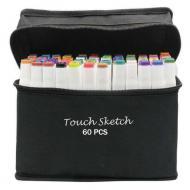 Набор двусторонних маркеров Touch Smooth для скетчинга на спиртовой основе 60 шт. (HGT2003614)