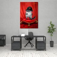 Модульная картина Маленький Наполеон 1 модуль 30х45 см