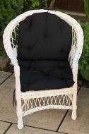 Крісло дерев'яне Woody Стандарт з подушкою для саду Білий/Чорний