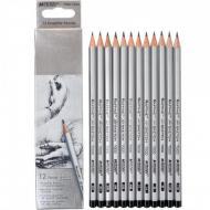 Олівці графітні Marco Raffine 3H-4B 12 шт (7000-12CB)