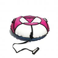 Надувные санки-ватрушка Kospa 120 см Усиленный Белый/Розовый (015)