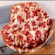 Плед одеяло пицца флисовое 200 см