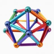 Магнитный конструктор NEO 63 детали Разноцветный (0040218)