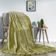 Плед с помпонами 200х220 Зеленый (181164)