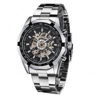 Часы Winner Timi Skeleton мужские механические с автоподзаводом водонепроницаемые Silver