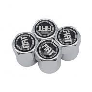 Захисні металеві ковпачки Primo на ніпель, з логотипом FIAT Silver
