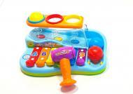 Інтерактивна розвиваюча іграшка Hola Toys Ксилофон з молоточком і м'ячиками різнобарвна