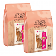Набір корму HOME FOOD для дорослих котів Здорова шкіра та блиск шерсті 1,6 кг 2 шт