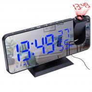 Часы настольные будильник FM-радио проекция LED подсветка