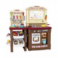 Велика дитяча кухня Be In Fun з дошкою для малювання та аксесуарами 66 шт. Коричнева