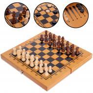 Набор 3в1 шахматы/шашки/нарды бамбуковые 35x35 см (341-162)