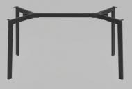 Опора для стола Jeans под столешницы 820-1400 мм Черная (rich50005)