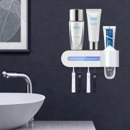 Диспенсер для зубної пасти Bionova Toothbrush Sterilizer zsw-y01 зі стерилізатором Білий (14377mel)