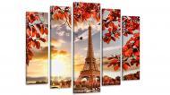 Модульная картина Париж Осень 80х118 см (Art-178_5)