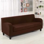 Чохол на тримісний диван HomyTex універсальний Біфлекс 195х230 см Кавовий (6-12102)
