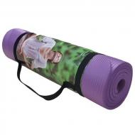 Килимок для йоги та фітнесу 10 мм 5415-15V фіолетовий