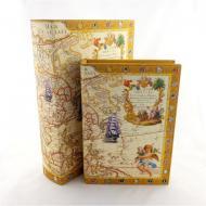 Шкатулка книга Гранд Презент Карта-2 2 шт. (22-F0241)