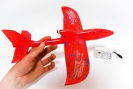Літак з моторчиком Haisenn Kitty 33 см Червоний.