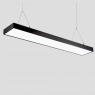 Світлодіодний лінійний світильник підвісний на тросах SUNLED чорний LED 48W 6500К 4300Lm (L4-48-1200-BT-6500)
