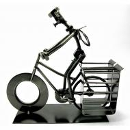 Техно-арт Home Place подставка под ручки Велосипедист металл 19х21х7,5 см
