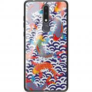 Чохол BoxFace Nokia 3.1 Plus Koi Fish Чорний силікон зі склом (36116-up2477-37737)