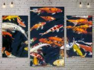 Картина модульная 3 части ArtStar Рыбки 120х180 см ADNA0078