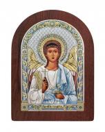 Икона Ангел-Хранитель Agio Silver 16x12 см серебро 925° с позолотой Коричневый